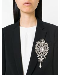 Givenchy - Metallic Spilla In Filigrana - Lyst