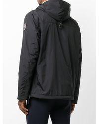 Napapijri - Black Zipped Neck Windbreaker for Men - Lyst