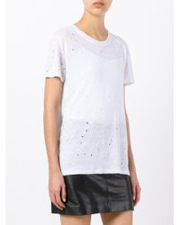 IRO - White Lightly Distressed T-shirt - Lyst