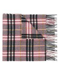 Burberry - Multicolor Check Cashmere Scarf - Lyst