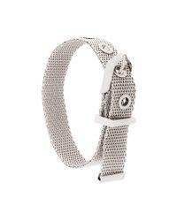 Lanvin - Metallic Chain Buckle Bracelet - Lyst