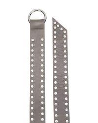 B-Low The Belt Gray Crystal Embellished Belt
