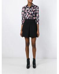 Marc Jacobs - Black Floral Print Shirt - Lyst