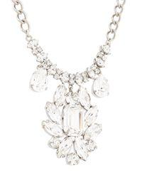 Dolce & Gabbana - Metallic Crystal Chandelier Necklace - Lyst