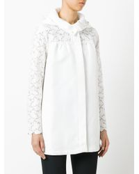 Moncler Gamme Rouge | White Lace Sleeve Coat | Lyst