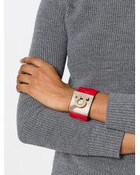 Ferragamo - Red Horseshoe Motif Bracelet - Lyst