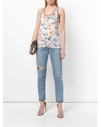Blumarine - Multicolor Sleeveless Floral Top - Lyst