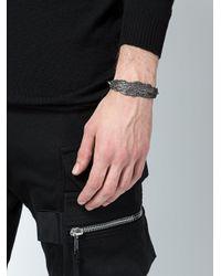 Tobias Wistisen - Metallic Wood Piece Effect Bracelet for Men - Lyst