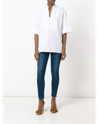 Vanessa Bruno - White Band Collar Blouse - Lyst