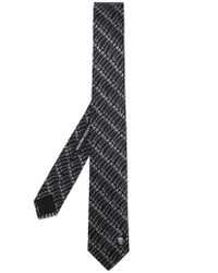 Alexander McQueen - Black Safety Pin Printed Tie for Men - Lyst