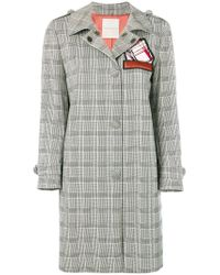 Marco De Vincenzo - Gray Prince Of Wales Trench Coat - Lyst
