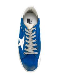 Golden Goose Deluxe Brand - Blue Superstar Sneakers for Men - Lyst