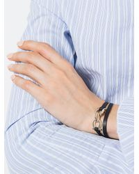 Ferragamo - Black Gancio Bracelet - Lyst