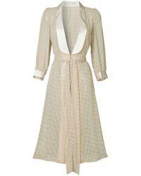 Tu Es Mon Tresor - Natural Polka Dot Dressing Gown - Lyst