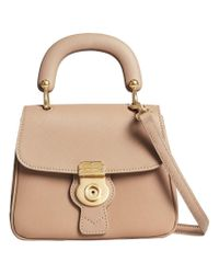 Burberry - Natural The Small Dk88 Top Handle Bag - Lyst