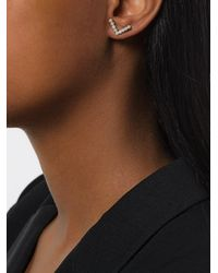 Yvonne Léon - Metallic Viviane Pearl Earrings - Lyst