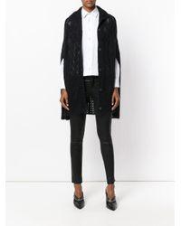 McQ Alexander McQueen - Black Knitted Cape - Lyst
