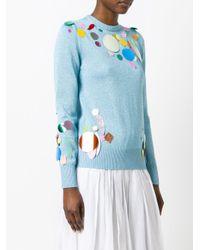 Christopher Kane - Blue Sequin Detail Metallic Sweater - Lyst
