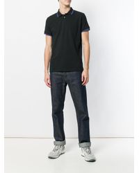 Dondup - Black Collar Tip Polo Shirt for Men - Lyst