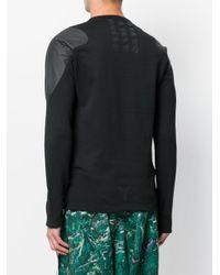 Y-3 - Black Panelled Sweatshirt for Men - Lyst