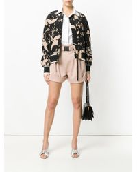 N°21 - Natural Belted High-waisted Shorts - Lyst