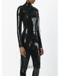 A.F.Vandevorst Black Asymmetric Ruched Dress