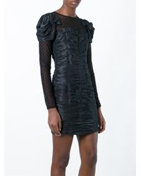 Faith Connexion | Black Tulle Panel Ruched Dress | Lyst
