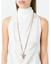 Givenchy - Metallic Long Shark Tooth Necklace - Lyst