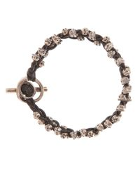 Tobias Wistisen | Metallic Skull Detail Bracelet for Men | Lyst