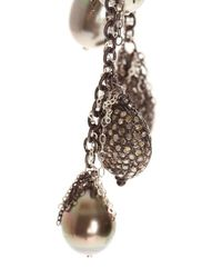 Samira 13 - Black Silver Charm Necklace - Lyst
