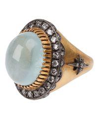 Sara Weinstock | Metallic Aquamarine Ring | Lyst