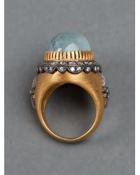 Sara Weinstock | Black Aquamarine Ring | Lyst