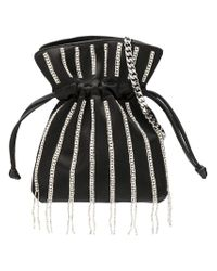 Les Petits Joueurs - Black Trilly Nano Disco Beaded Satin Clutch Bag - Lyst