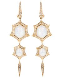 Stephen Webster | Metallic 'crystal Haze' Quartz And Diamond Drop Earrings | Lyst