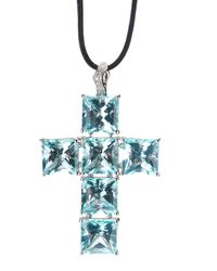 Gavello | Black Cross Pendant Necklace | Lyst