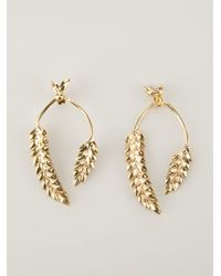 Aurelie Bidermann - Metallic 'wheat' Earrings - Lyst