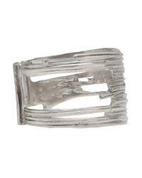 1-100 - Metallic Cut Out Cuff - Lyst
