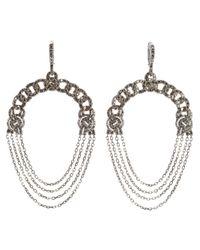 Garrard - Metallic Diamond Chain Earrings - Lyst