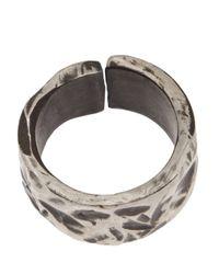 Henson - Gray Carved Split Ring - Lyst