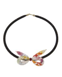Peppercotton | Multicolor Knotted Bow Necklace | Lyst