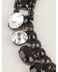 Tom Binns - Black Asymmetric Crystal Necklace - Lyst