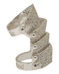 Vivienne Westwood - Gray Hinged Armor Ring - Lyst