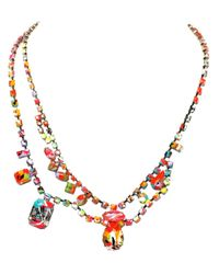 Tom Binns | Multicolor 'splash Out' Double Necklace | Lyst
