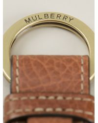 Mulberry - Brown Logo Keyring for Men - Lyst