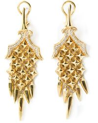 Stephen Webster | Metallic Chamfered Bale Dagger Diamond Earrings | Lyst