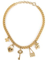 Moschino | Metallic Charm Necklace | Lyst