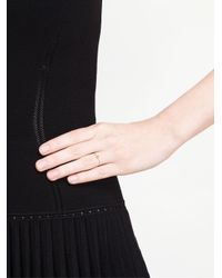 Natasha Collis - Slim 18kt Gold And Black Diamond Ring - Lyst