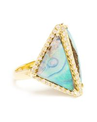 Kimberly Mcdonald | Blue Opal And Diamond Boulder Ring | Lyst