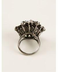 Lanvin - Metallic Embellished Ring - Lyst