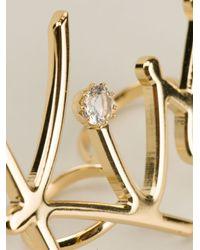 Lanvin | Metallic 'kiss' Ring | Lyst